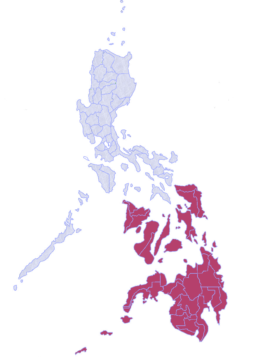 Map of Philippines Southern Province